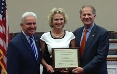Photo of OVS Director Hook accepting award