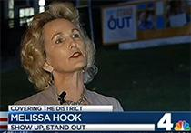 Screen grab of clip of Melissa Hooks, JGA/OVS Director speaking about Show Up, Stand Out
